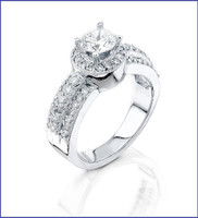 Gregorio 18K WG Diamond Engagement Ring R-5777