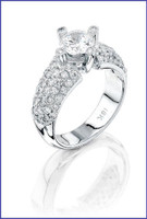 Gregorio 18K WG Diamond Engagement Ring R-5758