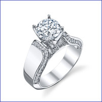 Gregorio 18K WG Diamond Engagement Ring R-550