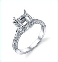 Gregorio 18K WG Diamond Engagement Ring R-528E