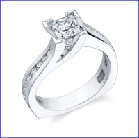 Gregorio 18K WG Diamond Engagement Ring R-432