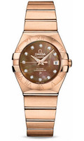 Omega Constellation Co-Axial 27 mm Red Gold 123.50.27.20.57.001