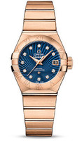 Omega Constellation Co-Axial 27 mm Red Gold 123.50.27.20.53.001