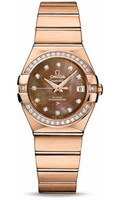 Omega Constellation Co-Axial 27 mm Red Gold 123.55.27.20.57.001