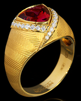 Mousson Atelier Tweed Collection Gold Tourmaline & Diamond Ring R0088-0/2