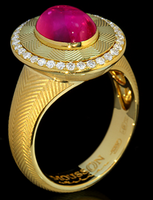 Mousson Atelier Tweed Collection Gold Tourmaline & Diamond Ring R0084-0/6