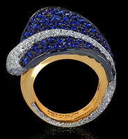 Mousson Atelier Ocean Collection Gold Sapphire & Diamond Ring R0059-0/1