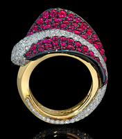 Mousson Atelier Ocean Collection Gold Ruby & Diamond Ring R0059-0/2