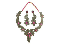 Ruby & 31.75 ct Diamond Necklace/Earring Set