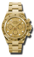 Rolex Watches Daytona Yellow Gold Bracelet 116528CHD