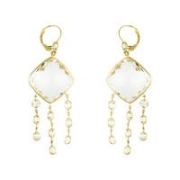 Herco Earrings 14KTY Earring Crystal Quartz 14VAEA62Y