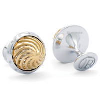 Jack Row Architect 18k Yellow & WG Cufflinks with Diamonds
