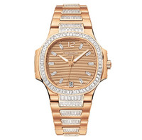 Patek Philippe Nautilus Automatic Diamonds RG Watch 7014/1R-001