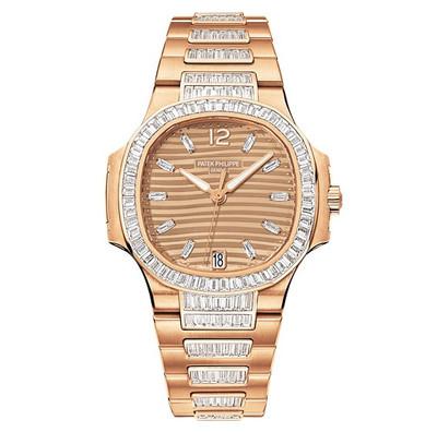 Patek Philippe Nautilus Automatic Diamonds RG Watch 7014/1R-001