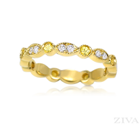 Ziva Yellow Sapphire & Diamond Eternity Band