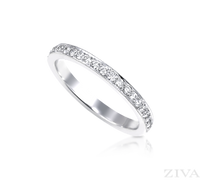 Ziva Thin Pave Diamond Eternity Band