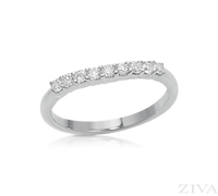 Ziva Thin Curved Diamond Wedding Band