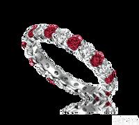 Ziva Ruby & Diamond Eternity Band