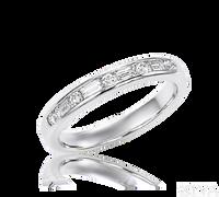 Ziva Round & Baguette Diamond Wedding Band