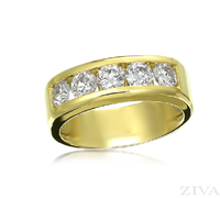 Ziva Men's Diamond Wedding Ring