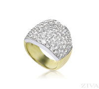 Ziva Large Two Tone Pave Diamond Band