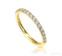 Ziva Diamond Wedding Band in Yellow Gold
