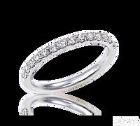 Ziva Diamond Wedding Band in White Gold