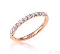 Ziva Diamond Wedding Band in Rose Gold