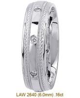 Men's Diamond Wedding Band 14K:White LAW2640M