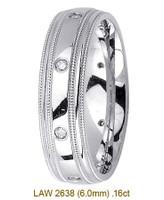 Men's Diamond Wedding Band 14K:White LAW2638M