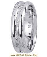 Men's Diamond Wedding Band 14K:White LAW2635M
