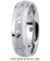 Men's Diamond Wedding Band 14K:White LAW2628M