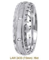 Men's Diamond Wedding Band 14K:White LAW2433M