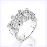 Gregorio 18K White Diamond Ring K-J