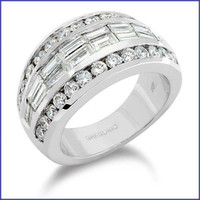 Gregorio 18K White Diamond Ring R-171