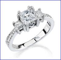 Gregorio 18K White Diamond Engagement Ring R-259