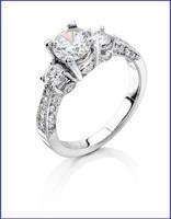 Gregorio 18K White Diamond Engagement Ring R-257