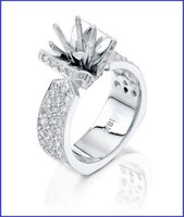 Gregorio 18K White Diamond Engagement Ring MTR-240
