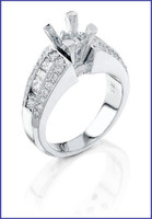 Gregorio 18K White Diamond Engagement Ring MTR-171