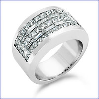 Gregorio 18K White Diamond Band R-3351