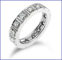 Gregorio 18K White Diamond Band R-158