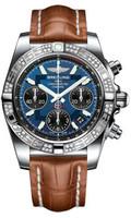 Breitling Chronomat 41 Steel Dia Bezel Croco Strap Deployant AB0140AA/C830