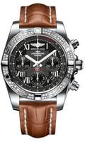 Breitling Chronomat 41 Steel Dia Bezel Croco Strap Deployant AB0140AA/BC04