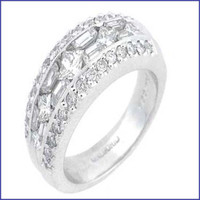 Gregorio 18K WG Diamond Engagement Band R-202