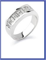 Gregorio 18K WG Diamond Engagement Band MTR-485