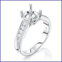 Gregorio 18K White Diamond Engagement Ring R-5028
