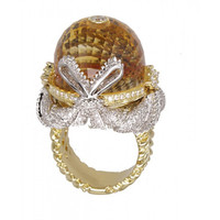Citrine & 2.25 ct Diamond Ring