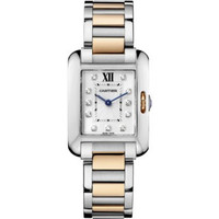 Cartier Tank Anglaise Small Steel & Pink Gold WoWatch WT100024