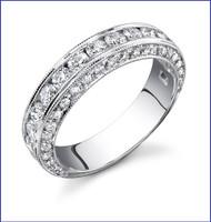 Gregorio 18K WG Diamond Engagement Band R-411B-1