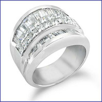 Gregorio 18K WG Diamond Band R-2379